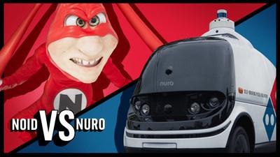 Noid es el villano más famoso y antiguo de Domino's, y el robot R2 de Nuro provocó el retorno de este antihéroe.