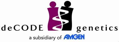 deCODE genetics logo with Amgen