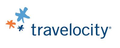 Travelocity logo.