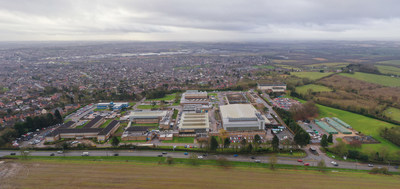 Aerial view of Bretby Business Park in Bretby, UK, recently acquired by Westcore Europe