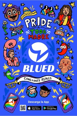 """Blued ha lanzado la campaña """"Pride a Toda Madre"""" con una serie de eventos en México durante el mes del Orgullo."""