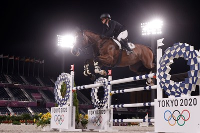 Germany's Julia Krajewski has entered the equestrian history books as the very first female athlete to take the Individual Olympic Eventing title following victory with Amande de B'Neville at the Tokyo 2020 Olympic Games in Baji Koen tonight. (FEI/EFE)