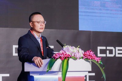 Perfect World CEO Dr. Robert H. Xiao delivers a keynote speech in CDEC on July 29.